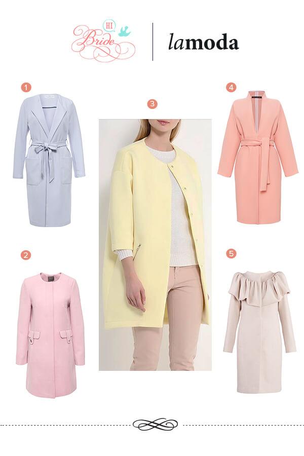 весенние пальто пастельных оттенков