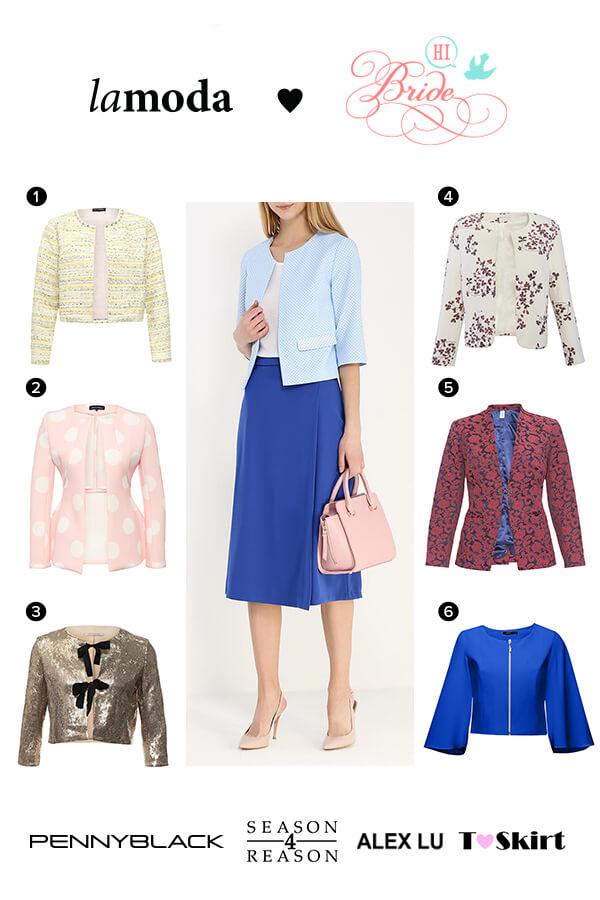 Жакеты и пиджаки как дополнение к платьям