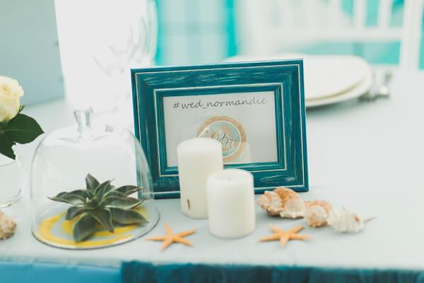 бирюзовые тона свадьбы