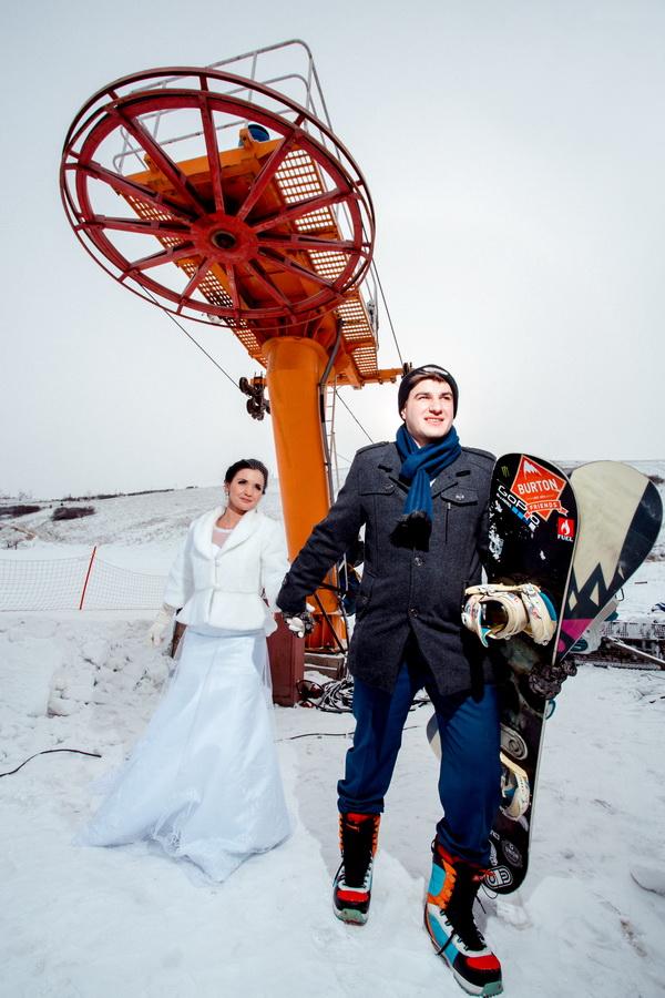 свадьба со снегом