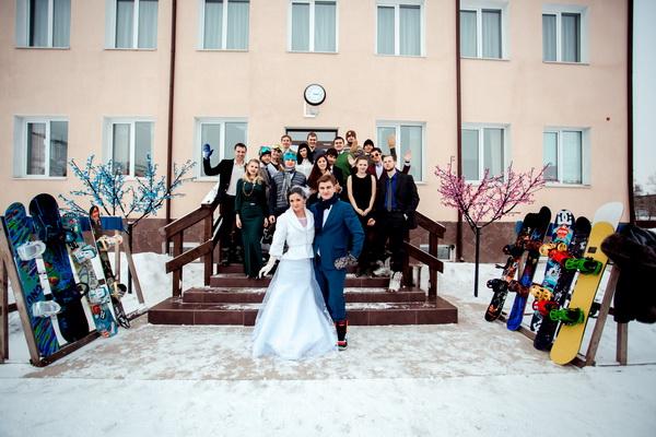 тематическая зимняя свадьба
