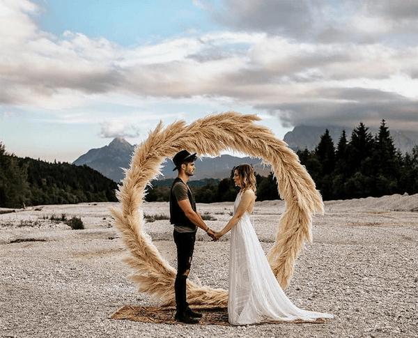 арка венок на свадьбу