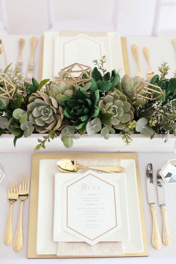 свадебное оформление стола геометрия