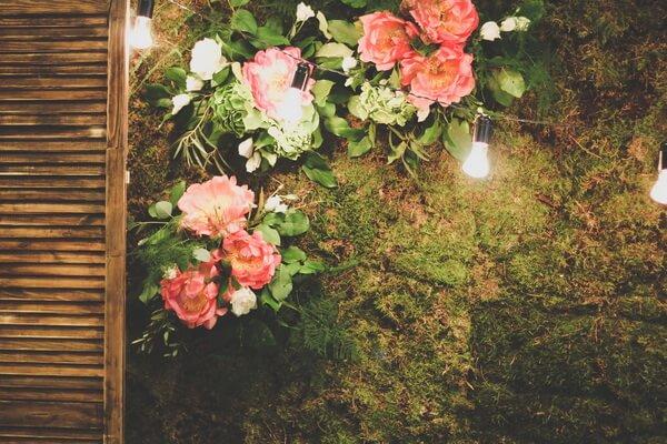 неживые цветы на свадьбе