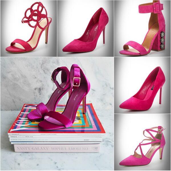 обувь цвета фуксия