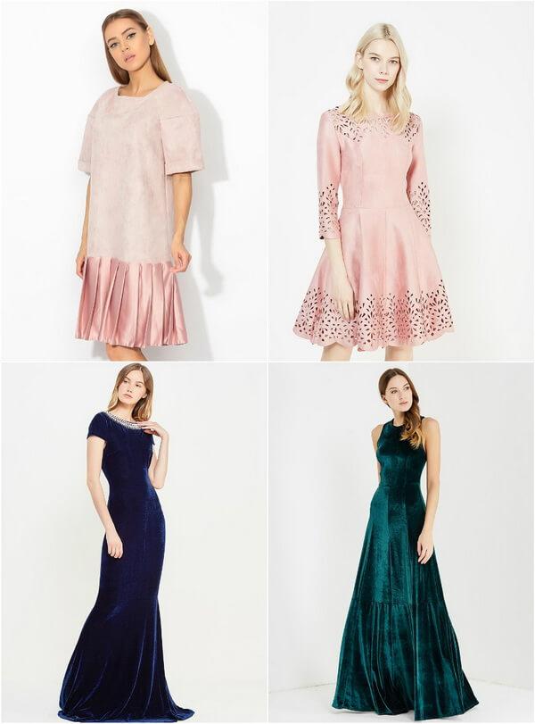 бархатные платья для подружек невесты