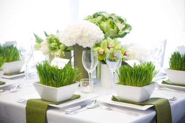 эко-свадьба в зеленом цвете