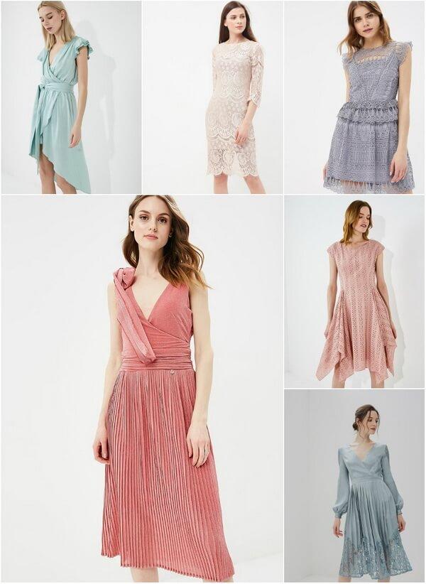 короткие пастельные платья