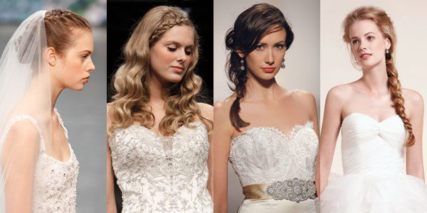 свадебные прически косы 2012