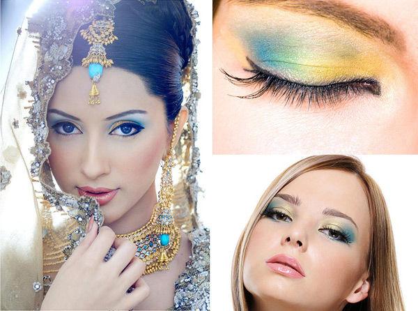 макияж глаз невесты