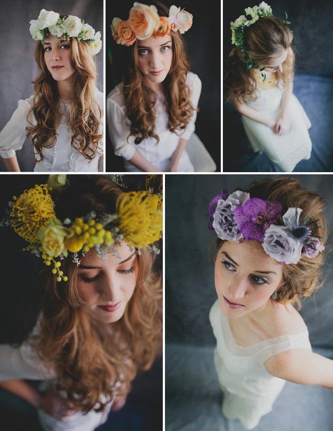Свадебные веночки на голову своими руками 87