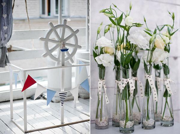 оформление морской свадьбы