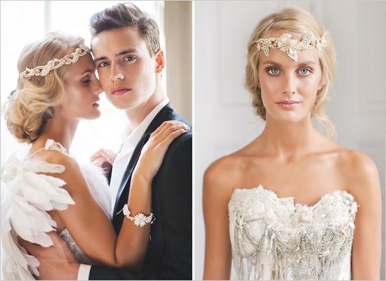 Украшение в прическу невесте