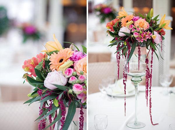 Оформление свадеб живыми цветами