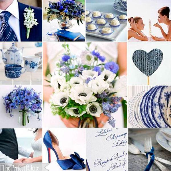 Свадьба в синем и белом цвете в 2019 году