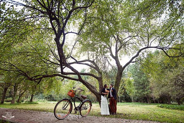 свадебная фотосессия в парке