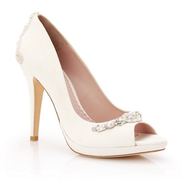 свадебные туфли с открытым мыском