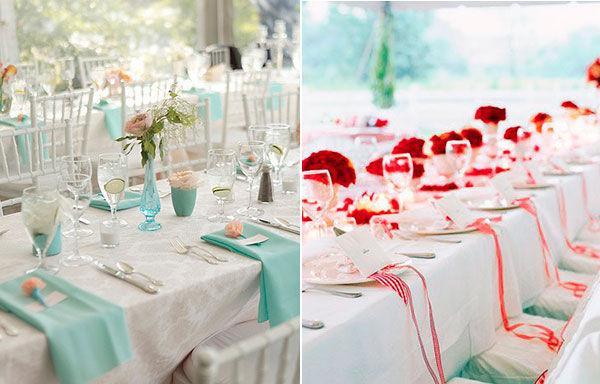 Аренда столового белья на свадьбу