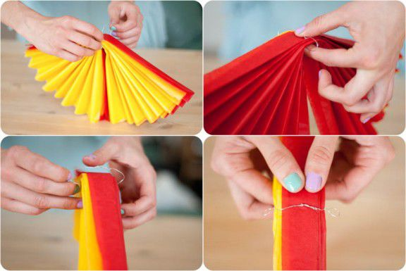 Из чего сделать бумажные помпоны