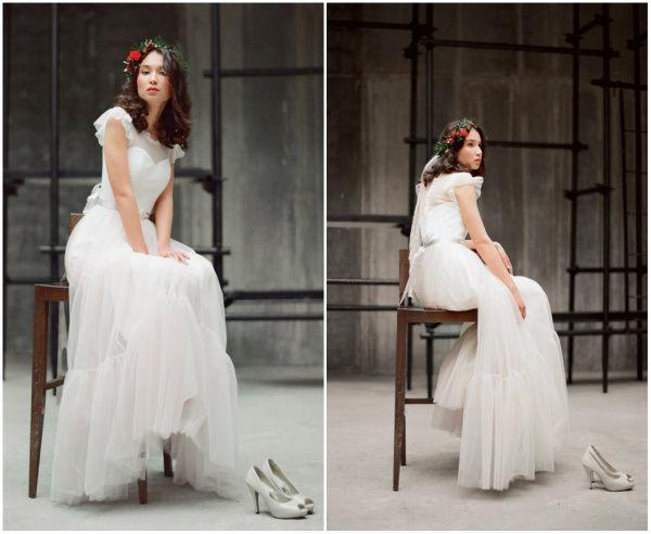 платье верх белый низ цветной сшшить